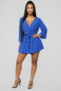 Tied Up Romper - Royal Angle 3
