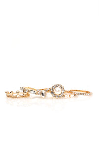 New Ruler Ring Set - Gold