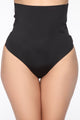 Body Of A Goddess High Waisted Thong Shapewear - Black