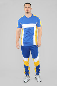 Ready To Race Short Sleeve Top - Royal Blue Angle 2