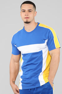 Ready To Race Short Sleeve Top - Royal Blue Angle 1