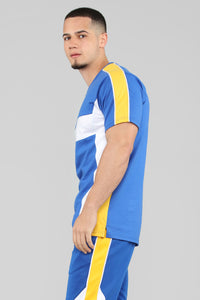 Ready To Race Short Sleeve Top - Royal Blue Angle 4