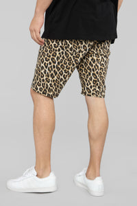 Lynx Denim Shorts - Leopard