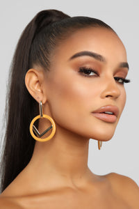 Loop Back Around Earrings - Gold/Combo