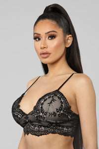Up For A Good Time Lace Bralette - Black
