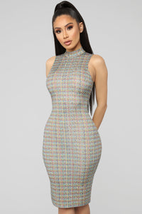Something To Look At Midi Dress - Multi Angle 2