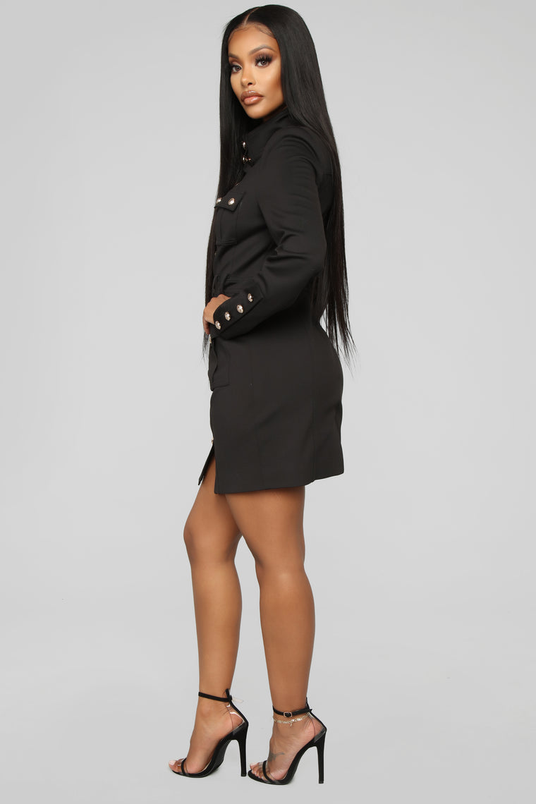 Follow The Rules Midi Dress - Black