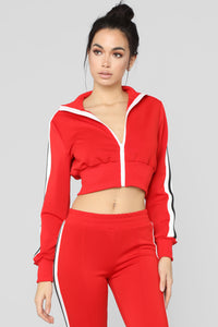 Number One Supporter Lounge Jacket - Red