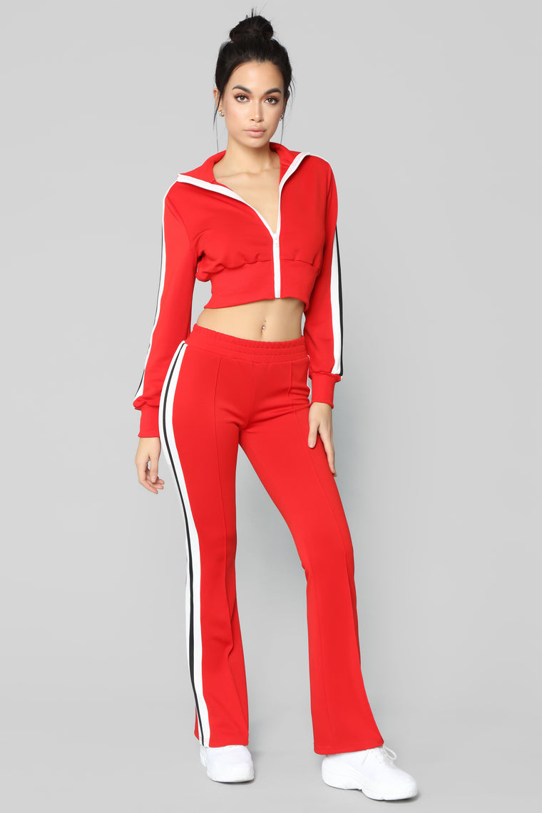 Number One Supporter Lounge Pants - Red