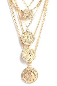 Sienna Layered Coin Necklace - Gold