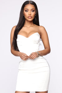 Business Of Fashion Satin Dress Set - White Angle 2