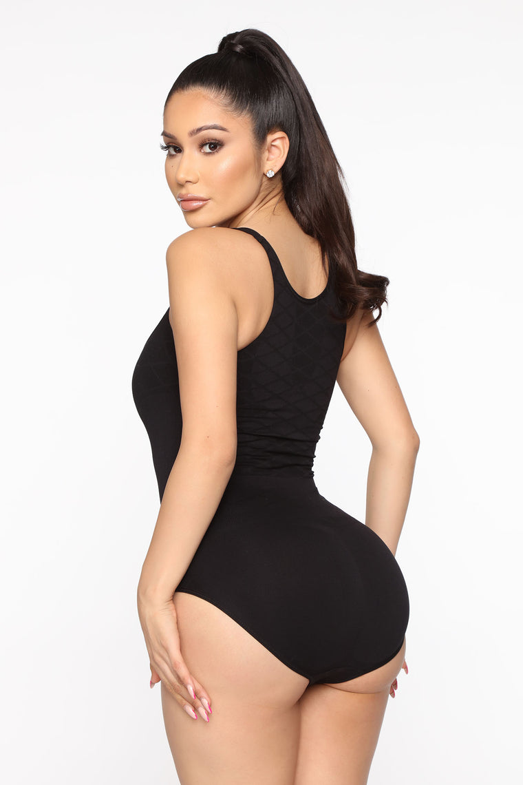 Hourglass Body Seamless Bodysuit Shapewear - Black