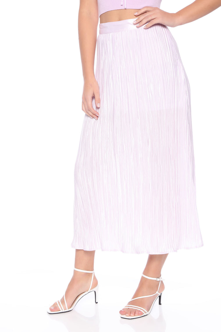 Mila Pleated Midi Skirt - Lavender
