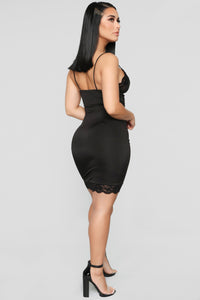 Something To Slip Into Mini Dress - Black