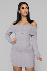 Exposing My Soft Side Sweater Dress - Lavender