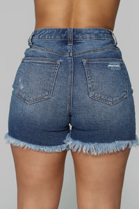 Right Of Passage Distressed Bermuda Shorts - Medium Wash Angle 5