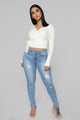 Don't Back Down Skinny Jeans - Light Blue Wash