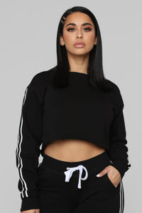 Chill With Me Sweatshirt - Black