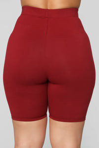 Paparazzi Short Set - Burgundy Angle 8