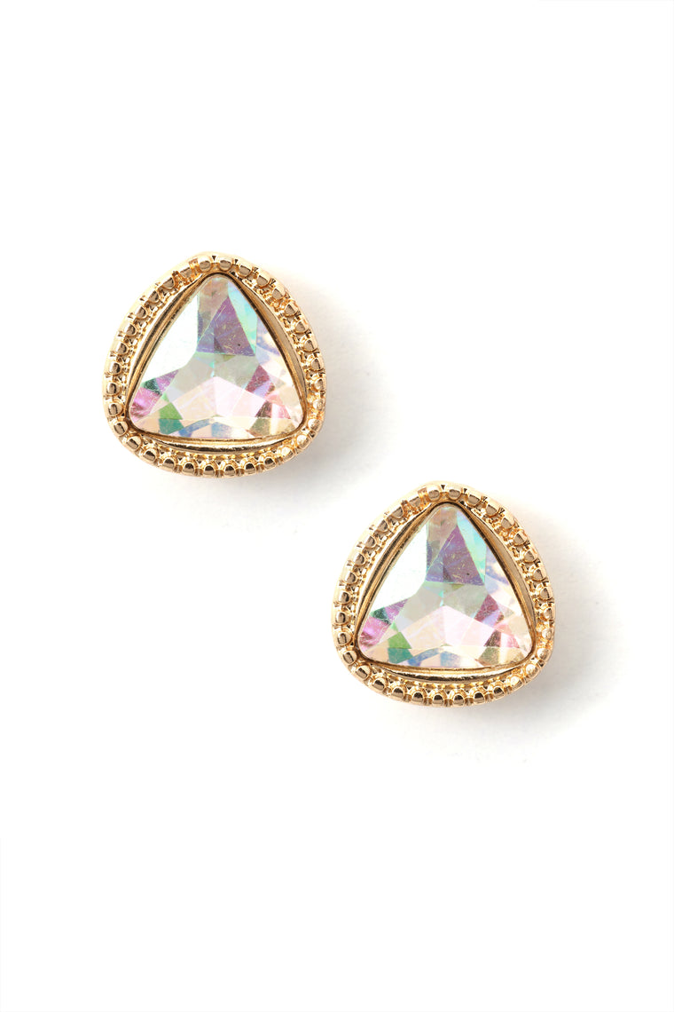 Keeping Things Clear Stud Earrings - Iridescent