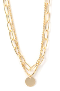 2 Chains Necklace - Gold