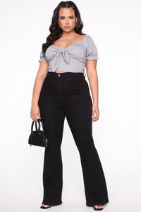 Deep In My Soul Flare Jeans - Black Angle 9
