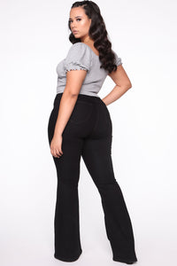 Deep In My Soul Flare Jeans - Black Angle 11