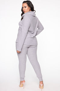 Cowler Than You Pant Set - Heather Grey Angle 10