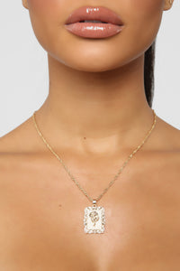 Trust And Believe Necklace - Gold