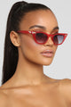 Major Babe Sunglasses - Red