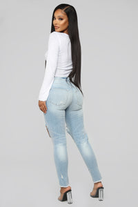 Lexy High Rise Skinny Jeans - Light Blue Wash