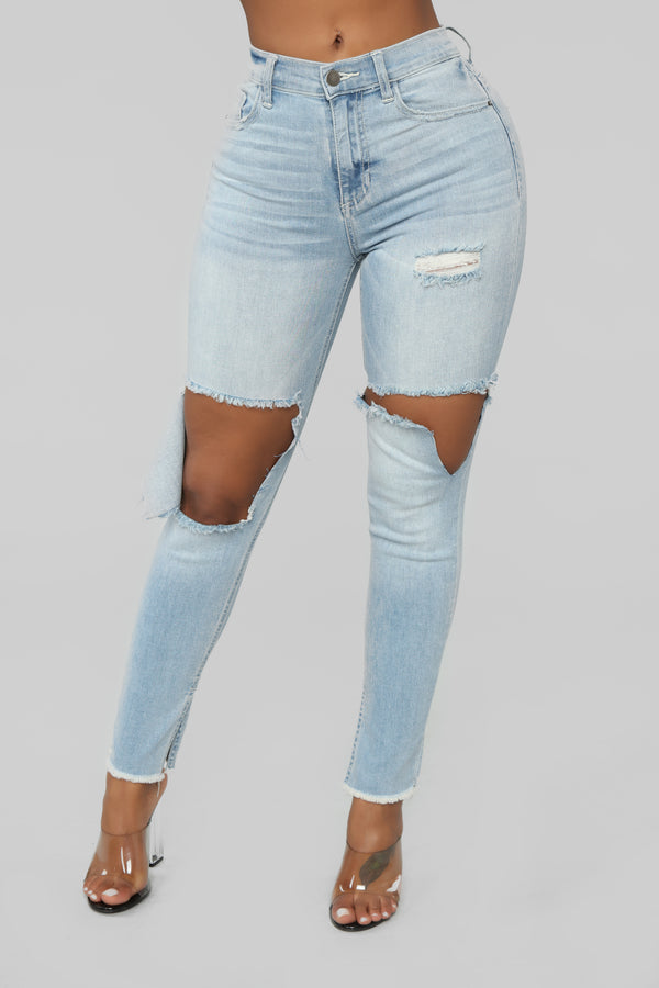 d570f637 Lexy High Rise Skinny Jeans - Light Blue Wash