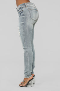 Somewhere In The Middle Skinny jeans - Medium Blue Wash