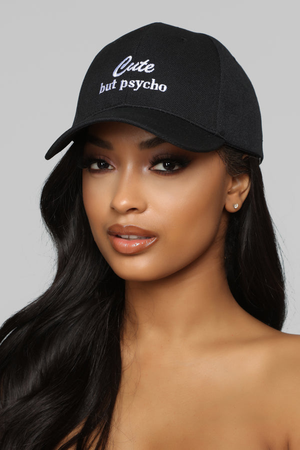 c2d3481c170e8 Call Me Crazy Baseball Cap - Black White