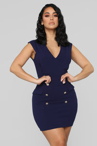 Immy Mini Dress - Navy