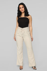 Cool Breeze Flare Pants - Khaki Angle 2