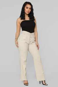 Cool Breeze Flare Pants - Khaki Angle 3