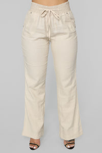 Cool Breeze Flare Pants - Khaki Angle 1