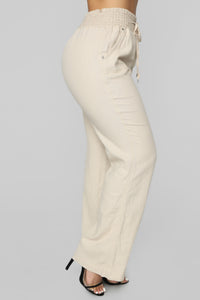 Cool Breeze Flare Pants - Khaki Angle 4