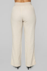 Cool Breeze Flare Pants - Khaki Angle 6