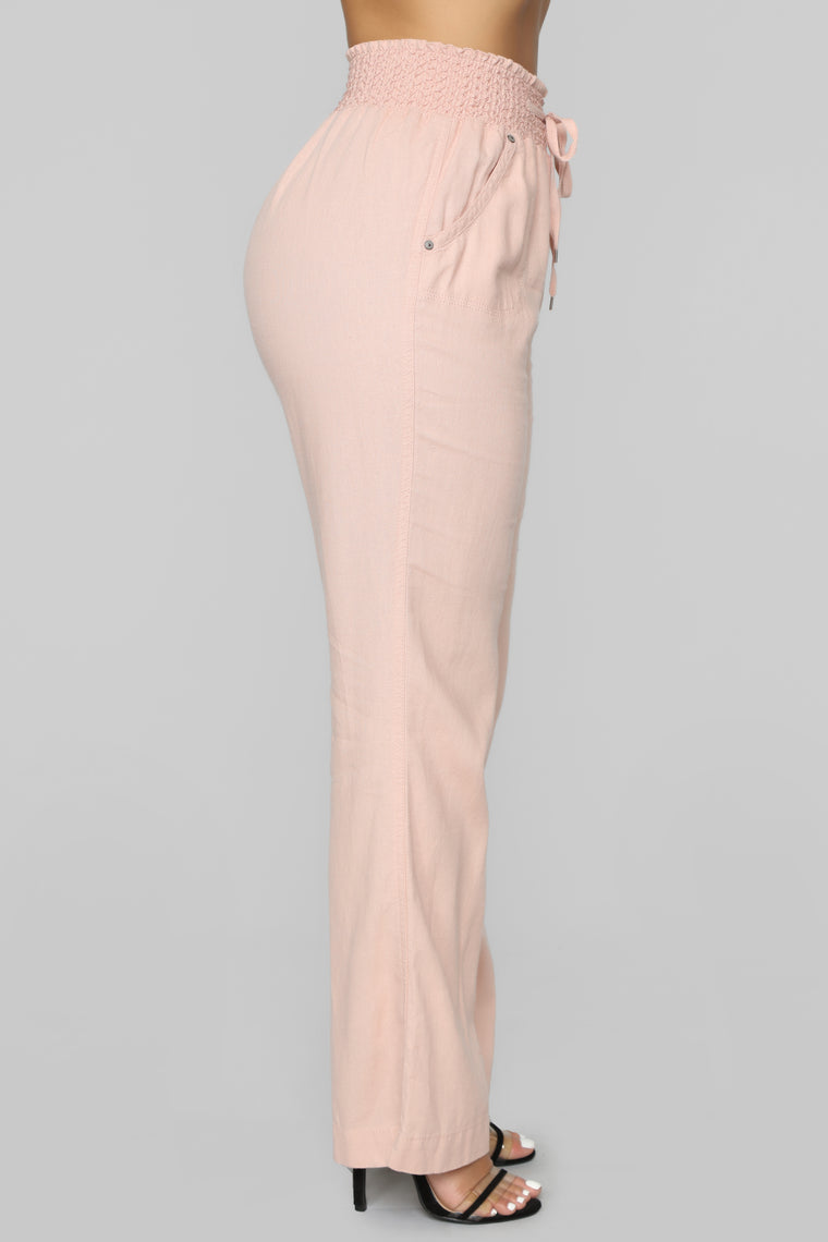 Cool Breeze Flare Pants - Blush