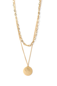 Coin That Phrase Necklace - Gold