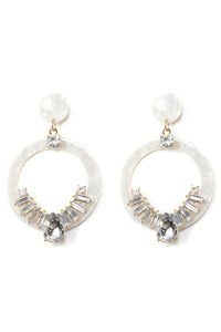 Circles And Stones Earrings - Ivory Angle 2