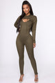 Did Us Well Hooded 2 Piece Jumpsuit - Olive