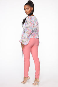You Can Call Me Boss Lady Belted Pants - Coral Angle 4