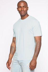 Essential Crew Tee - Blue Angle 3