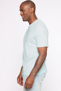 Essential Crew Tee - Blue Angle 4