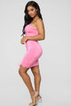 Coming For Your Love Ruched Mini Dress - Pink