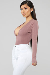 Into You Bodysuit - Mauve