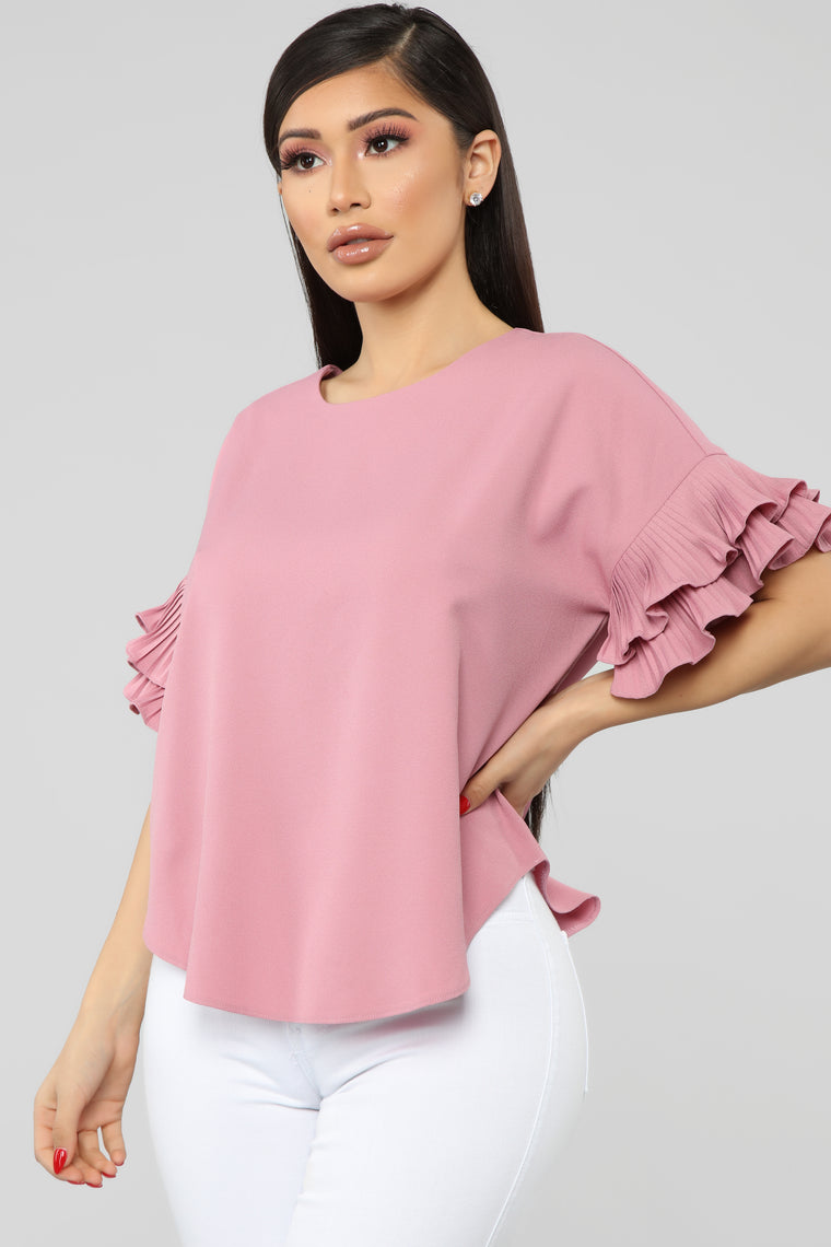 Forever My Ruffles Top - Mauve